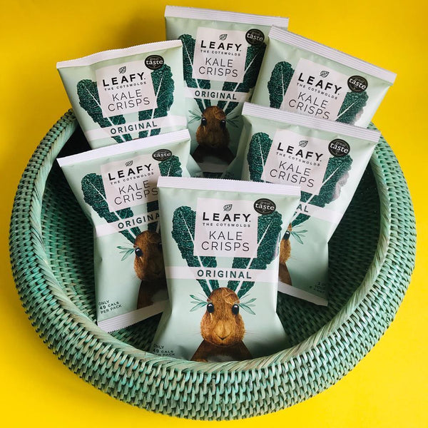 Leafy Foods using our Inya Rattan Bowl in Green
