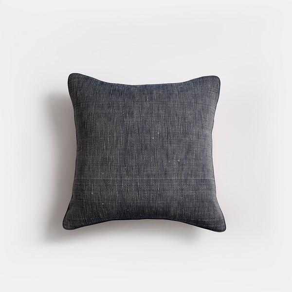Amaya Ribbed Cushion | Square Blue