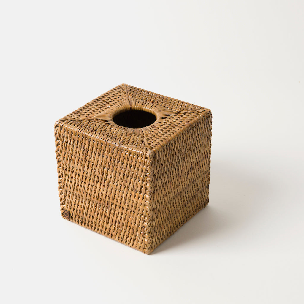 Heho Rattan Tissue Box | Square & Rectangular | Natural