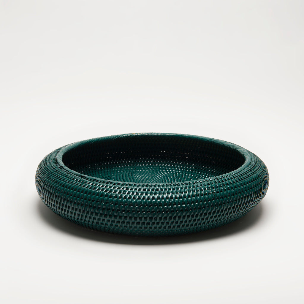 Inya Rattan Bowl | Large | Dark Green