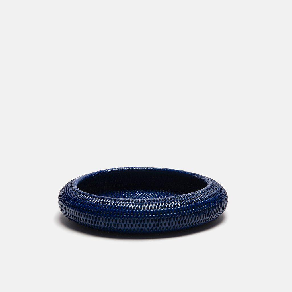 Inya Rattan Bowl | Small | Dark Blue
