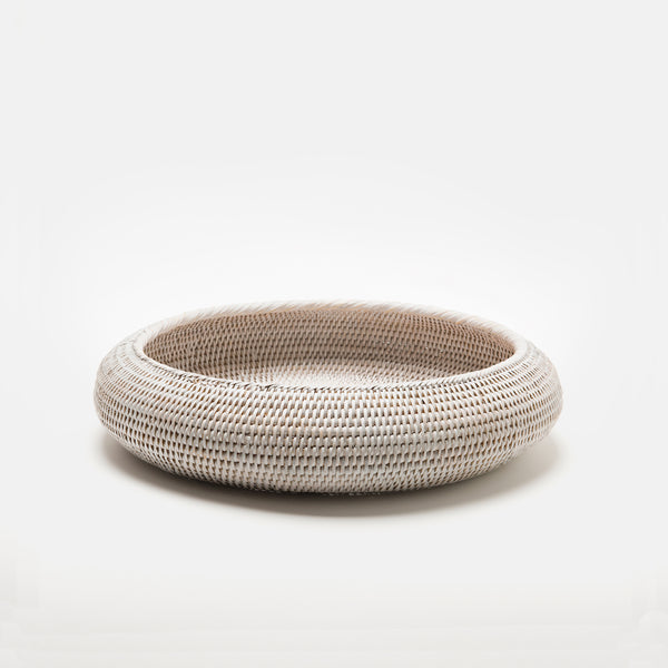 Inya Rattan Bowl | Large | White