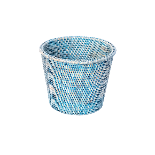 Kanbalu Rattan Planter | 3 Sizes | Blue