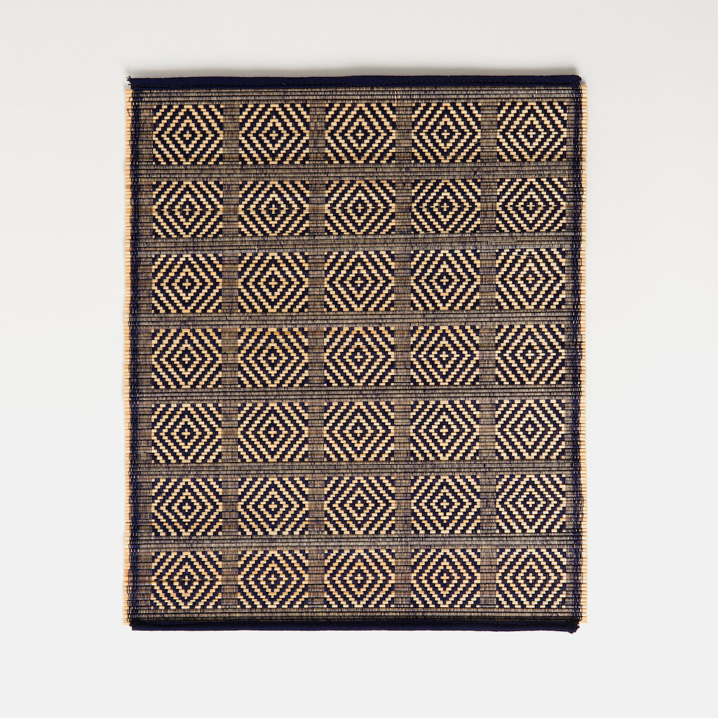 Kaya Bamboo Woven Placemats | Set of 4 | Indigo