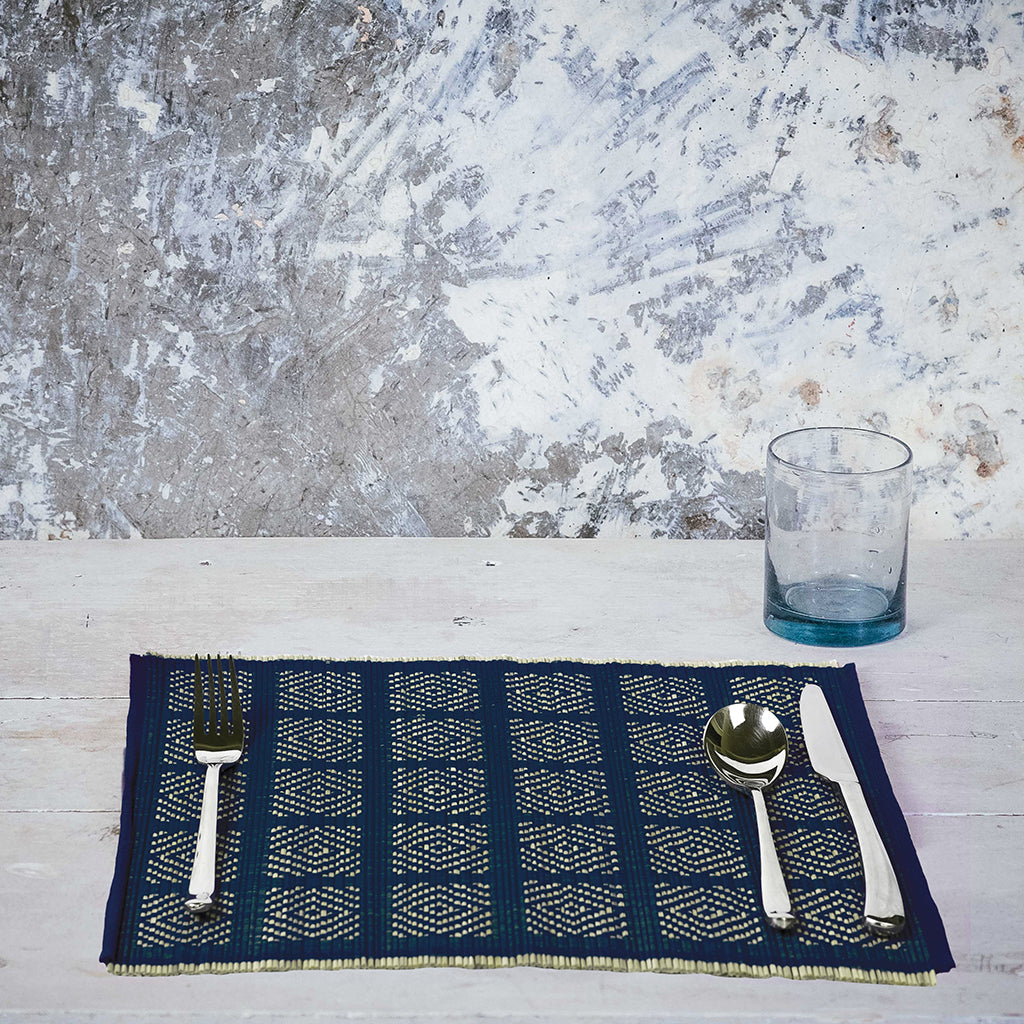 Kaya Place Mats | Set of 4 |  Indigo
