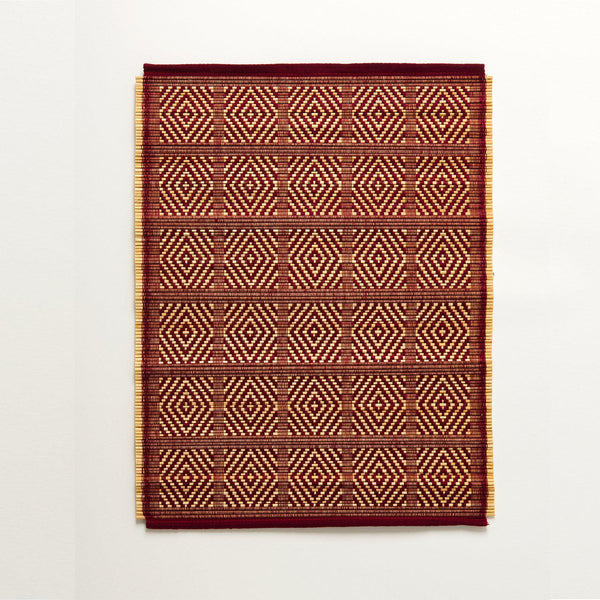 Kaya Bamboo Woven Placemats | Set of 4 | Maroon