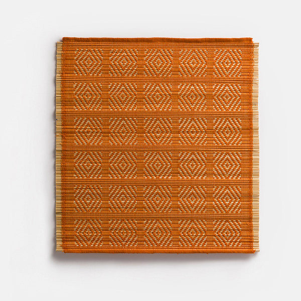 Kaya Bamboo Woven Placemats | Set of 4 | Orange