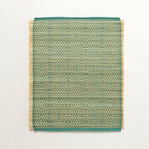 Kaya Bamboo Woven Placemats | Set of 4 | Pea