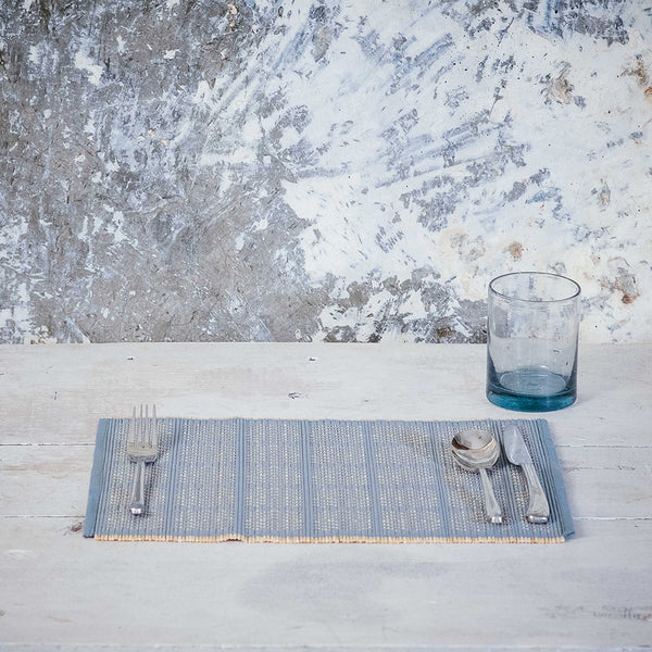 Kaya Bamboo Woven Placemats, set of 4, 5 colours