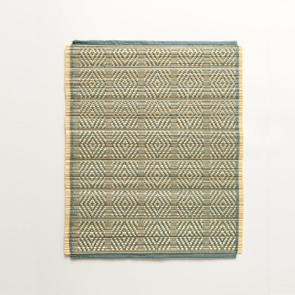 Kaya Bamboo Woven Placemats | Set of 4 | Teal