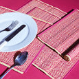Kaya Place Mats | Set of 4 |  Crimson