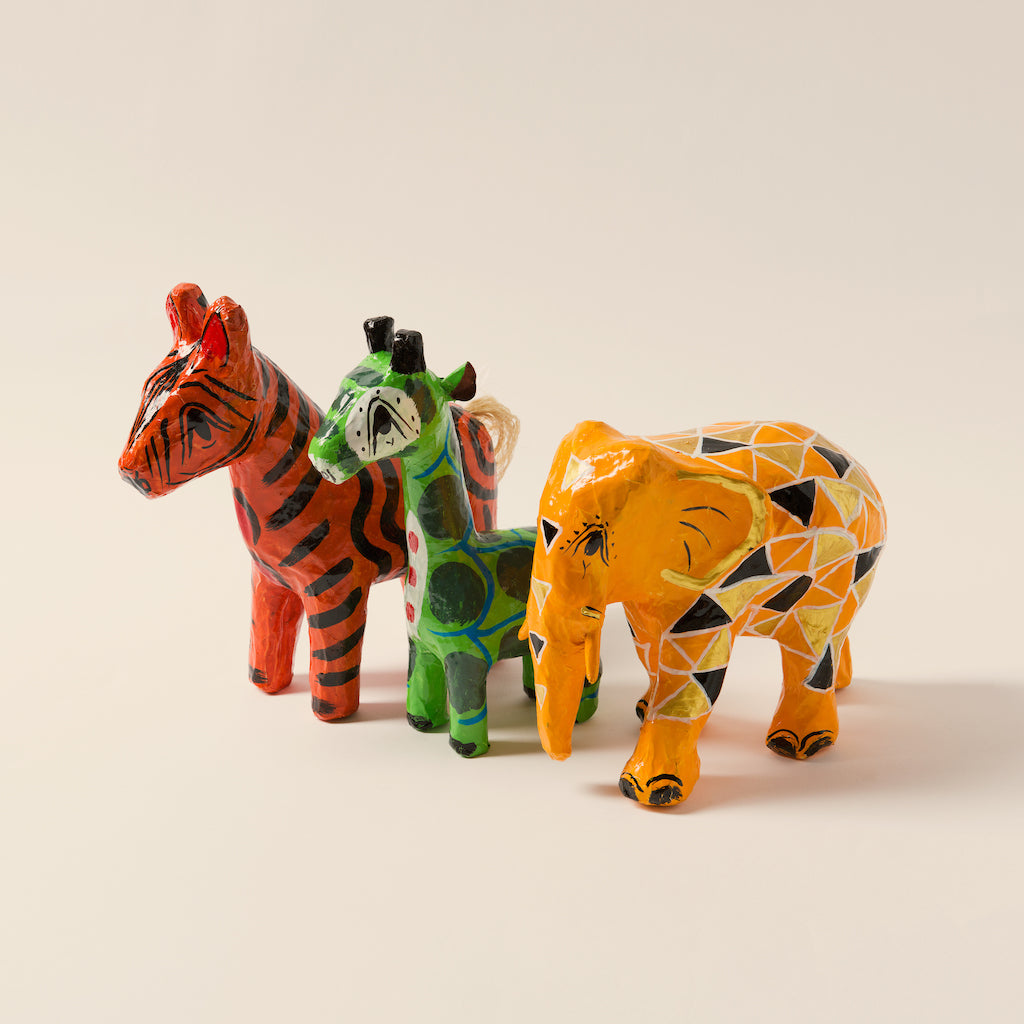 Kids Papier Mâché Animal Trio