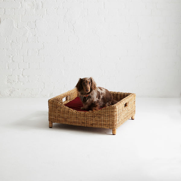 Kway Rattan Pet Bed
