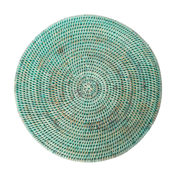 Latha Rattan Table Mat | Pale Green