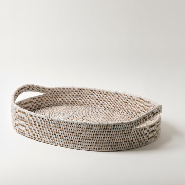 Pegu Rattan Breakfast Tray | White