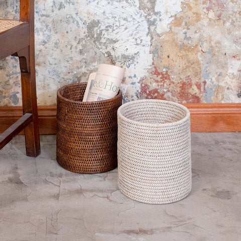 Rangoon Rattan Waste Paper Basket | 2 Colours