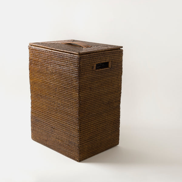 Tinsa Rattan Laundry Bin | Square Brown