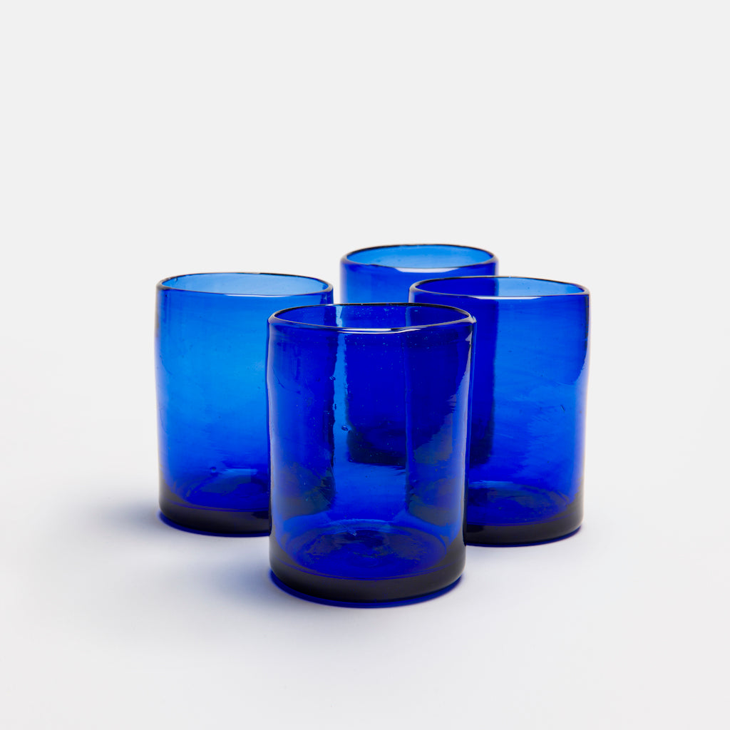 Zomi Glass Tumbler | Dark Blue | Set of 4