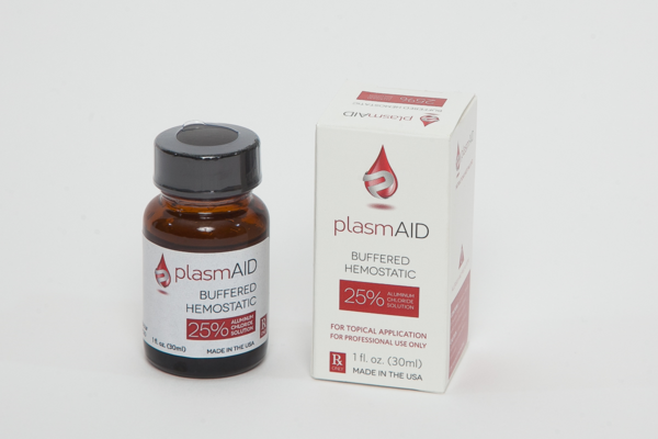 Hemostatic Agent 25% Aluminum Chloride  Plasmaid 15ml Bottle