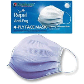 Repel 4-Ply Premium Face Mask ASTM 3 - 50/Box
