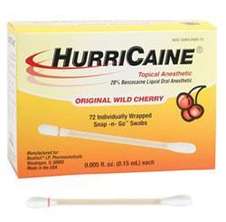 HurriCaine Topical - Snap -n- Go Swabs - 72 swabs