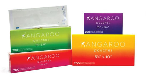 Kangaroo Self-Seal Sterilization Pouches - Class 4