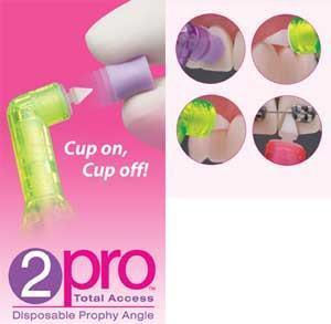 2Pro Angle Soft Short Cup, Purple, bag of 144