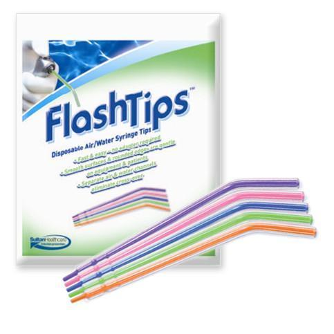 FlashTips Air/Water Syringe Tips Assorted Colors 250/Pk
