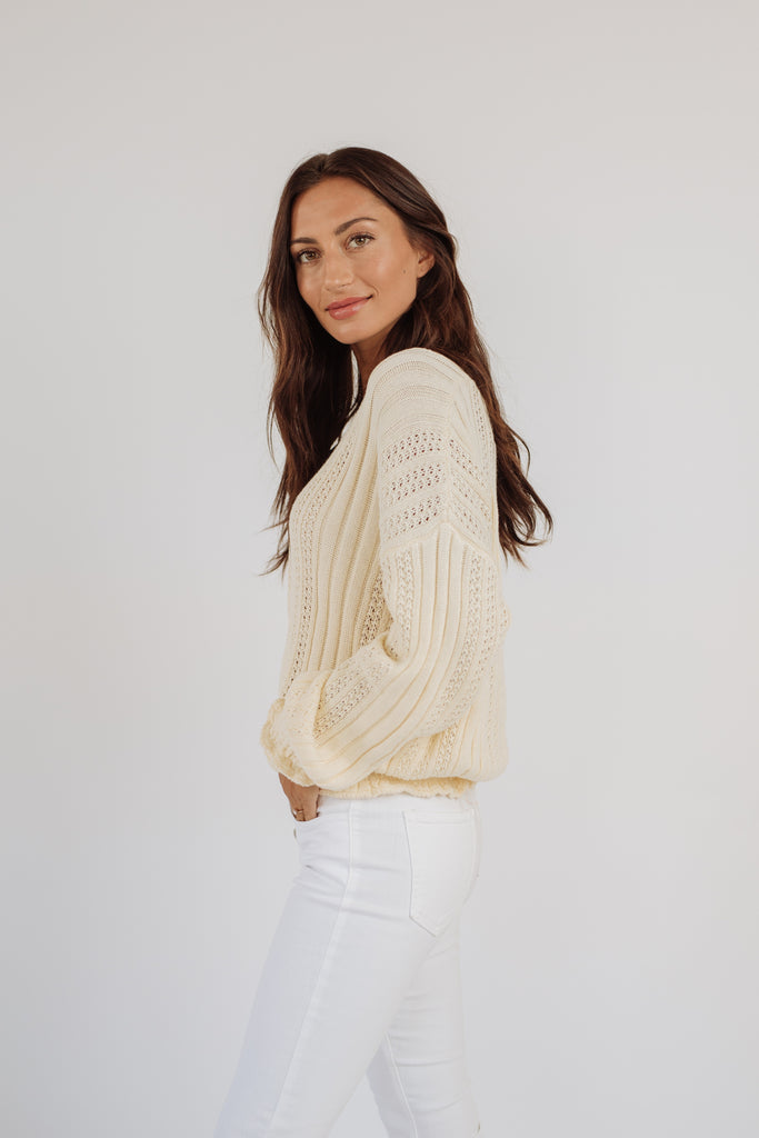 luca sweater // cream
