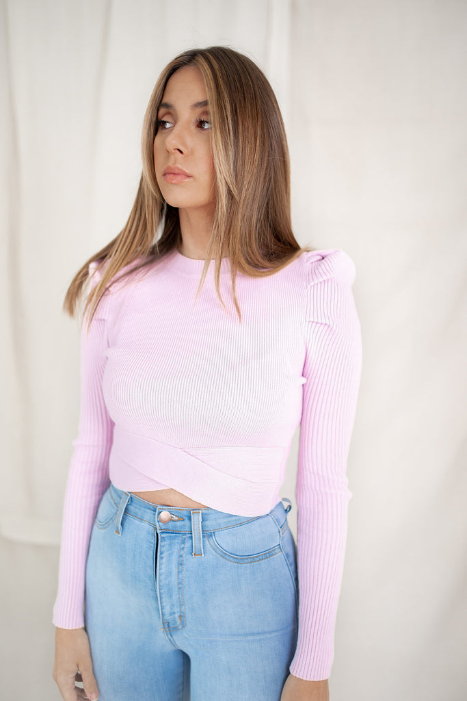 7 pm sweater // light orchid