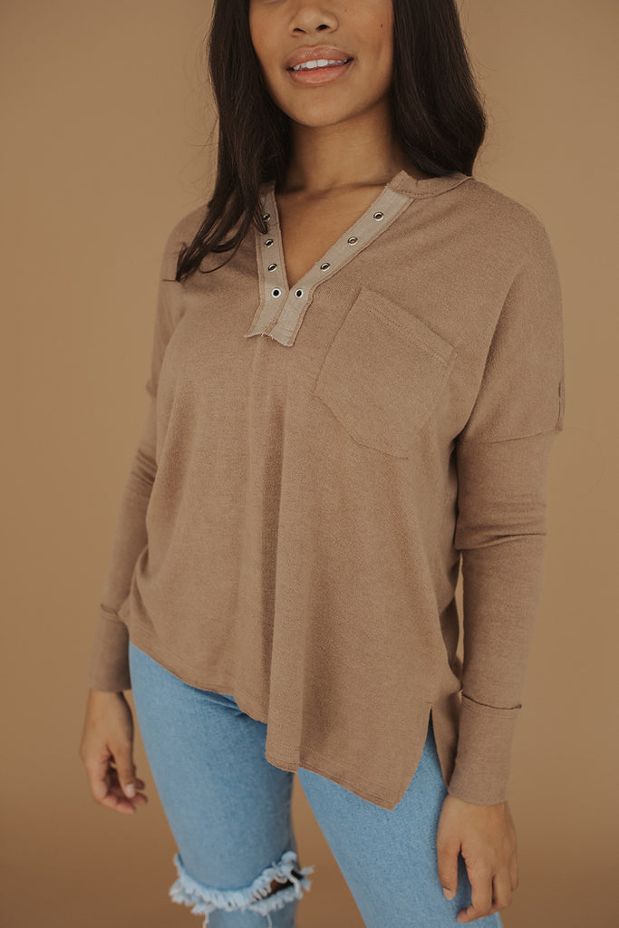 cedar city top // faded brown