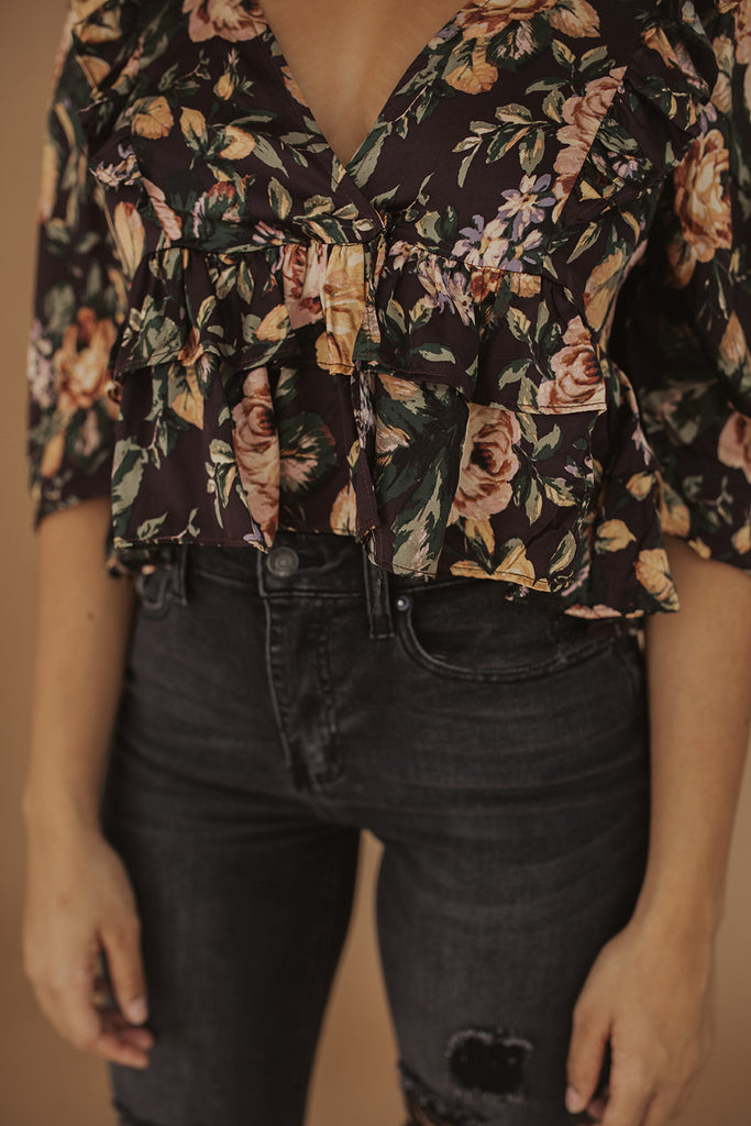 for the love floral top