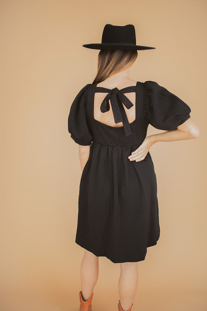 jayden knit dress // black
