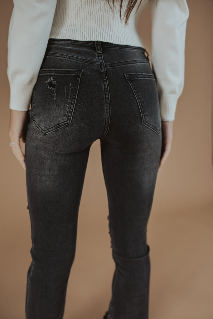 evie distressed denim