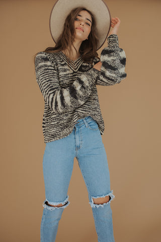 edie puff shoulder sweater