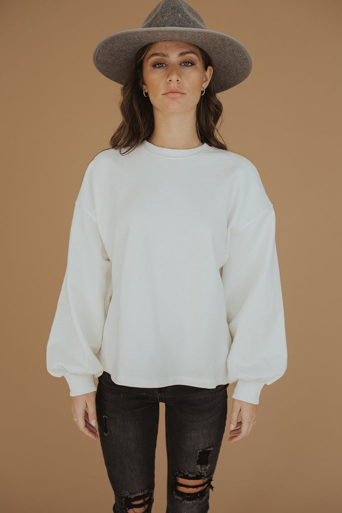 hometown sweatshirt /// ivory