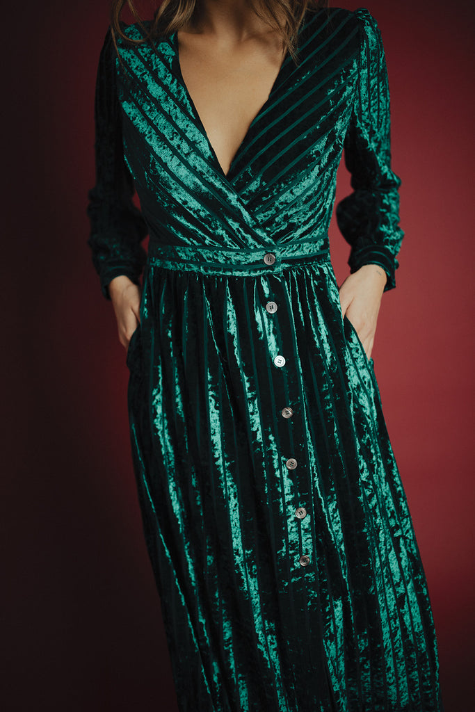 jewel velvet dress