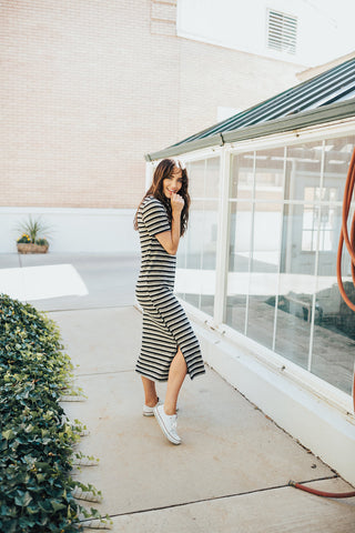may striped dress