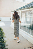 bella striped maxi