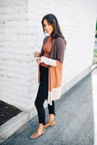 cho color block sweater