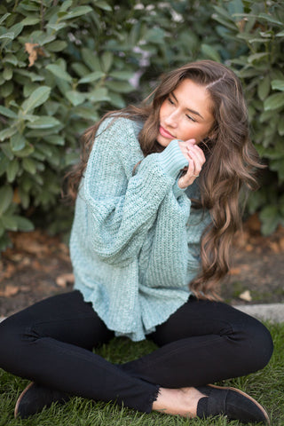 bailey mock neck sweater