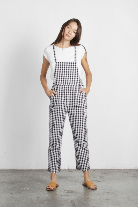 gingham overalls