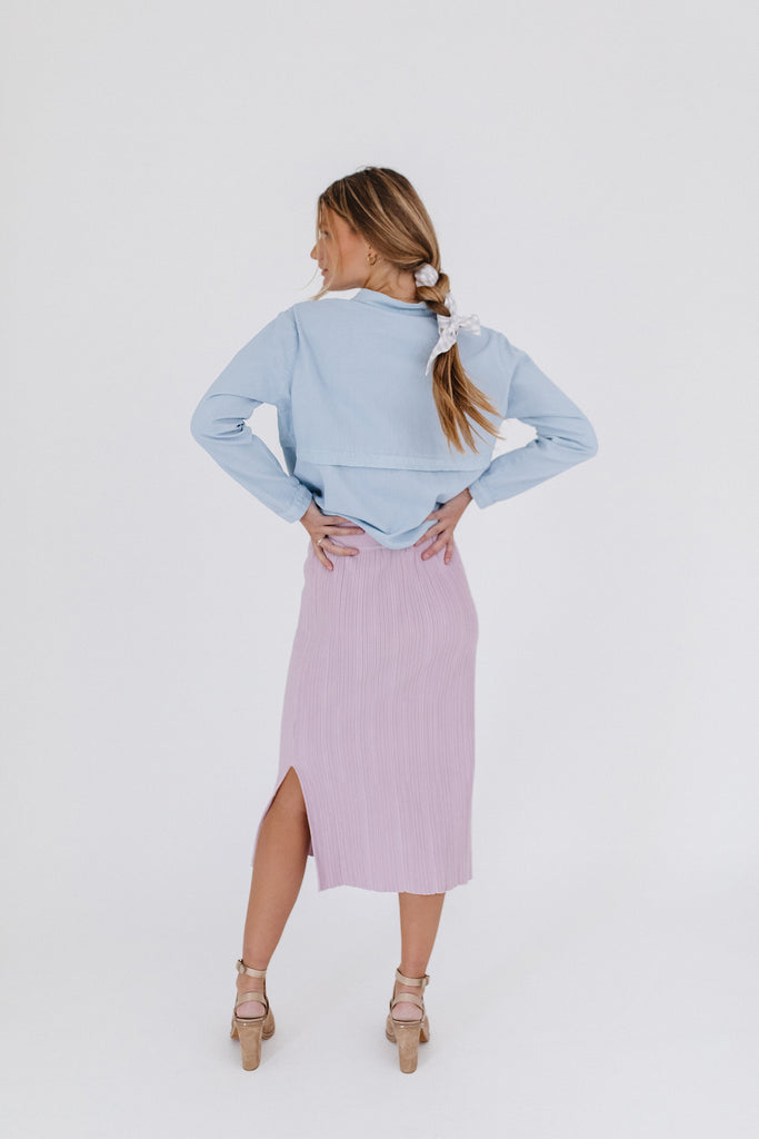 up in the air skirt // lavender
