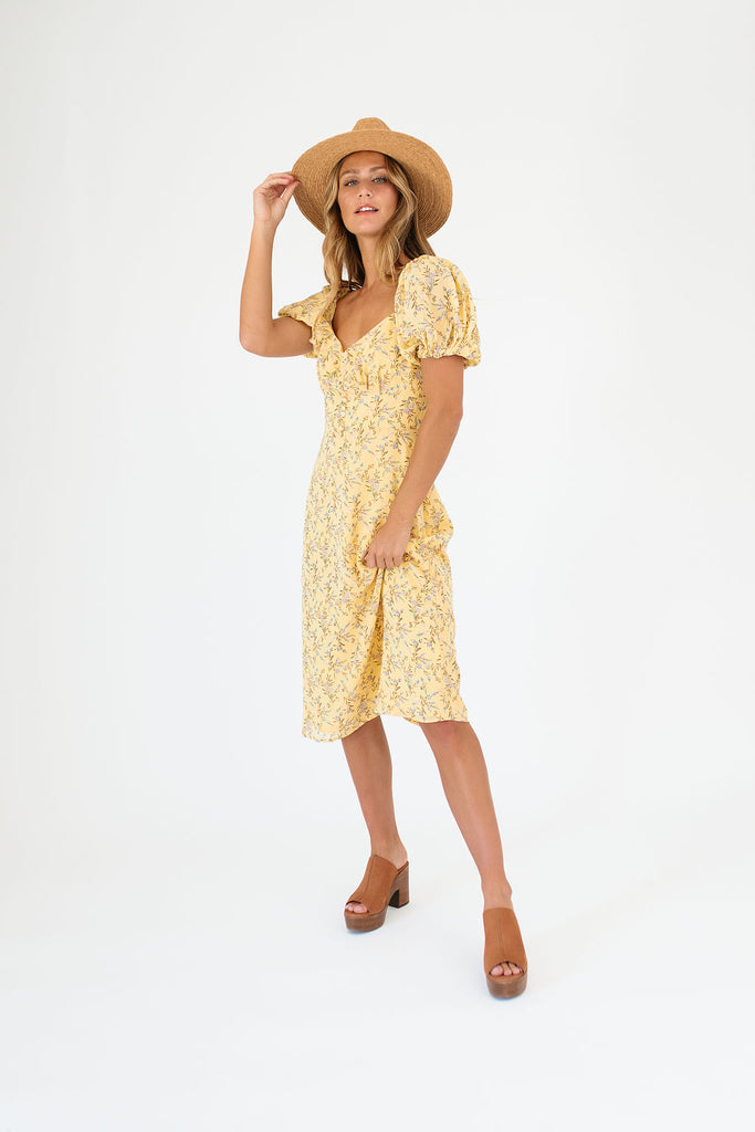 full swing dress // yellow