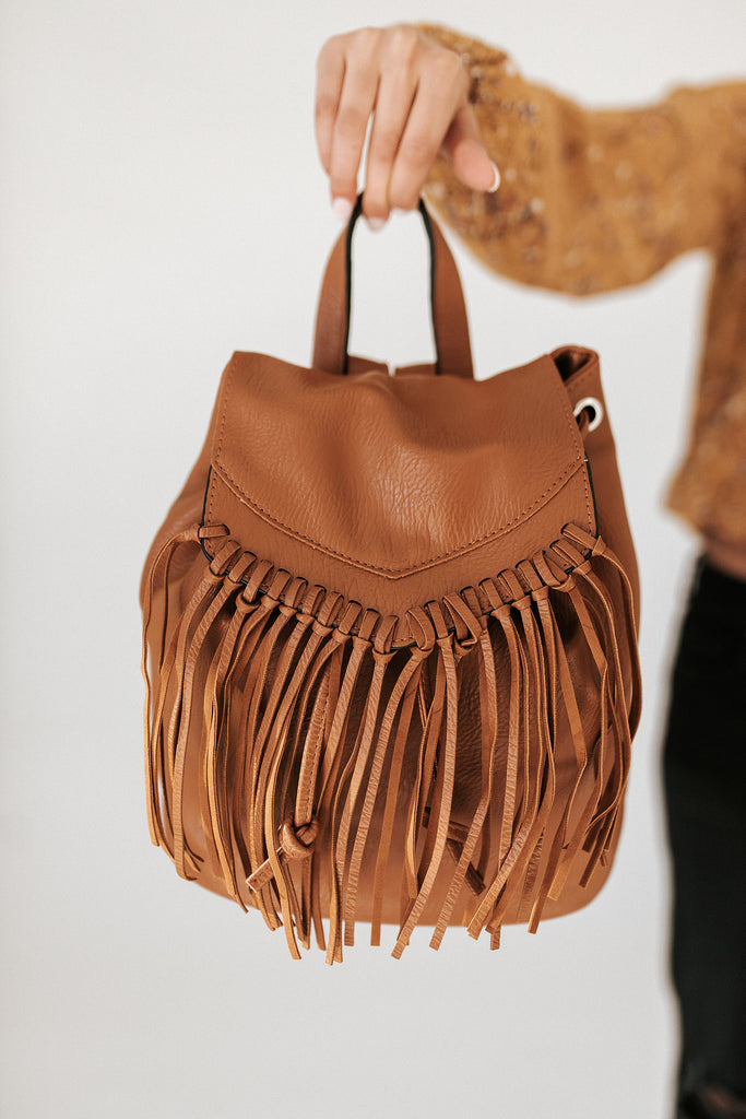 sunkissed fringe backpack