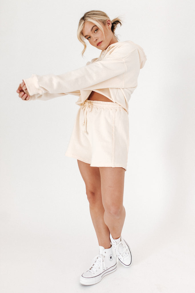 real deal two piece set // cream