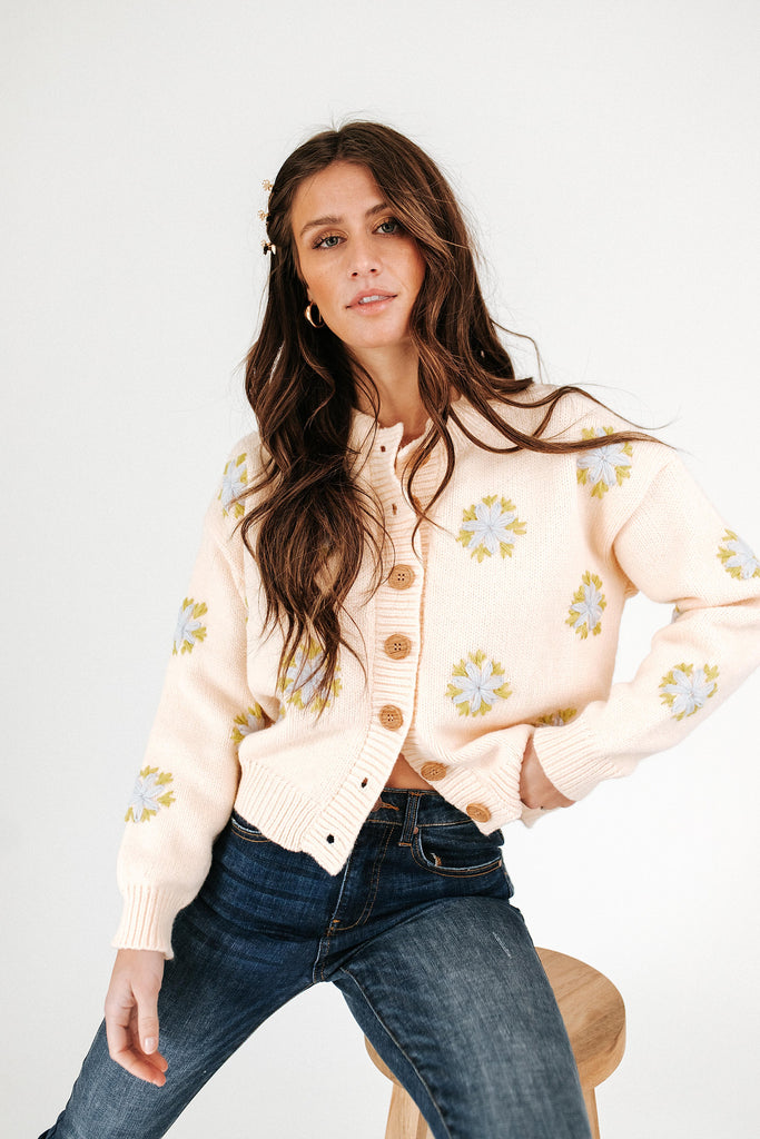 buttercup floral cardigan