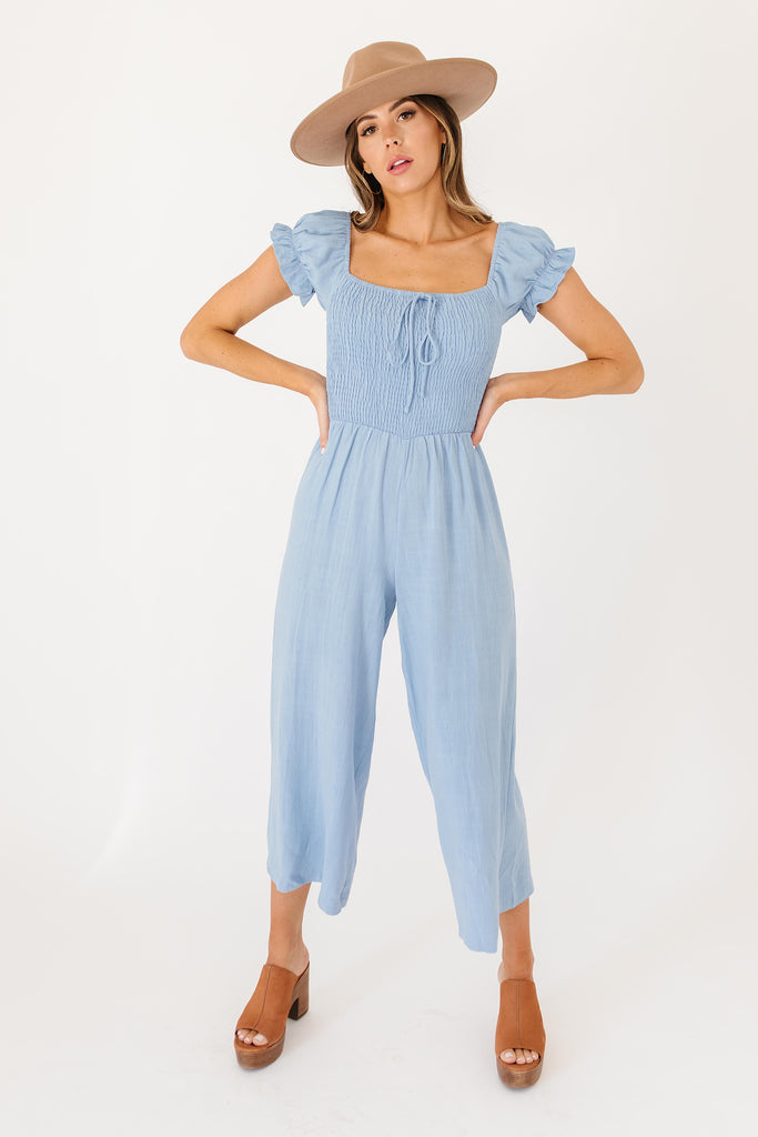 take me home smocked jumpsuit *restocked*