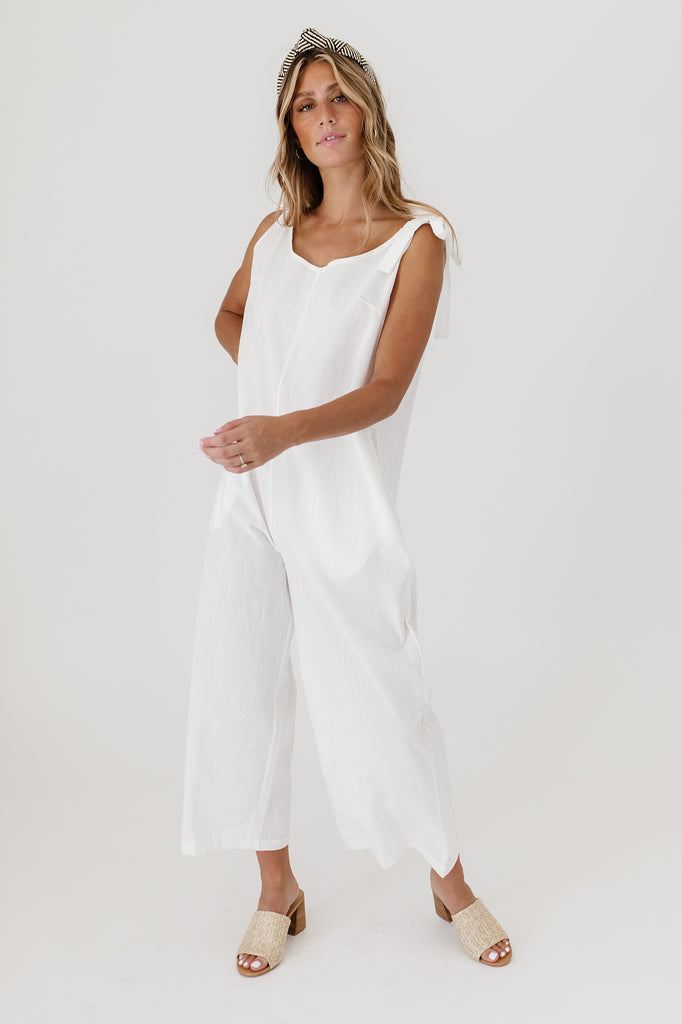 waverly jumpsuit // white