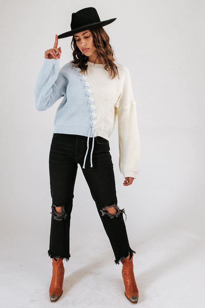hannah color block sweater